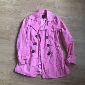 Express EUC Pink Trench in XS